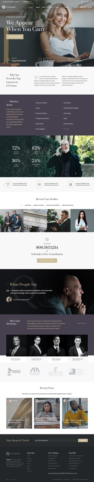 Lawyers and Law Firm HTML Template