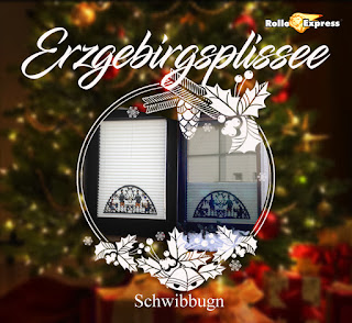 Plissee, Rollo, Weihnachtsmotiv, Gardine, RolloExpress