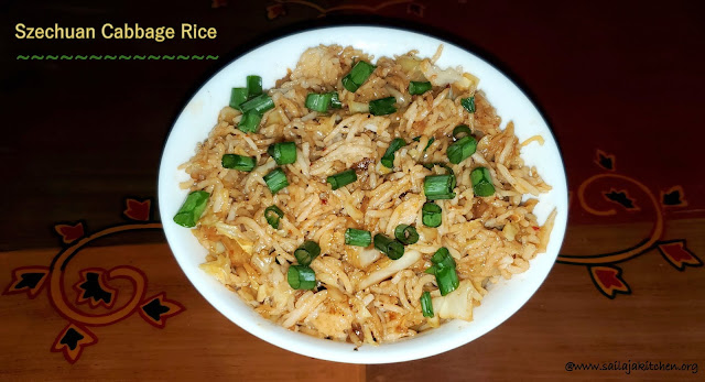 images of Szechuan Cabbage Rice / Schezwan Cabbage Fried Rice / Chinese Cabbage Rice- Indo Chinese Recipe
