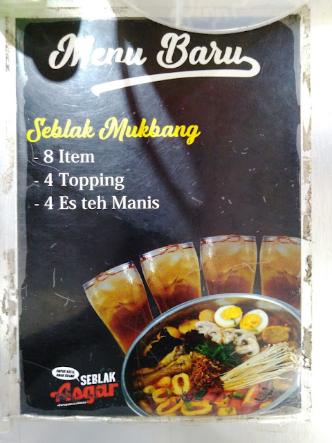 Seblak Asgar: Sensasi Pedas Kuliner Garut di Yogyakarta, Daftar Menu Seblak Asgar Yogyakarta