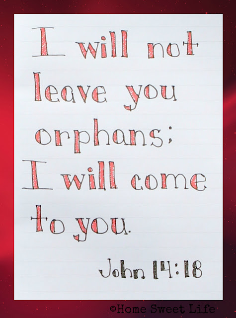 Scripture Writing, John 14:18