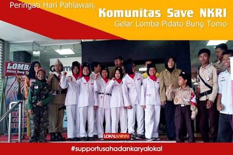 Peringati Hari Pahlawan, Komunitas Save NKRI Gelar Lomba Pidato Bung Tomo