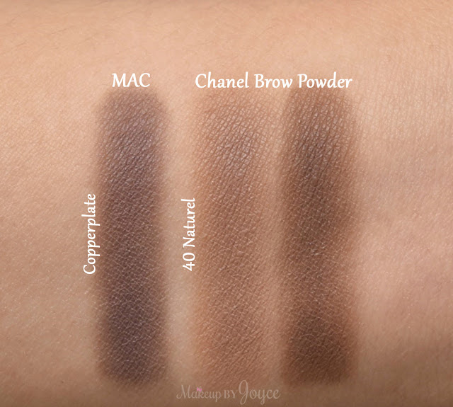Chanel Brow Powder Duo Palette 40 Naturel Swatches