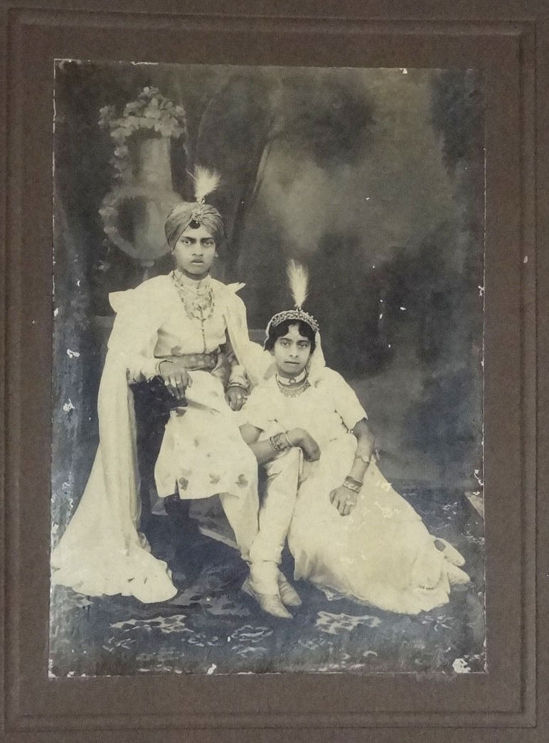 Prince and Princess, Studio Photograph - India, Date Unknown