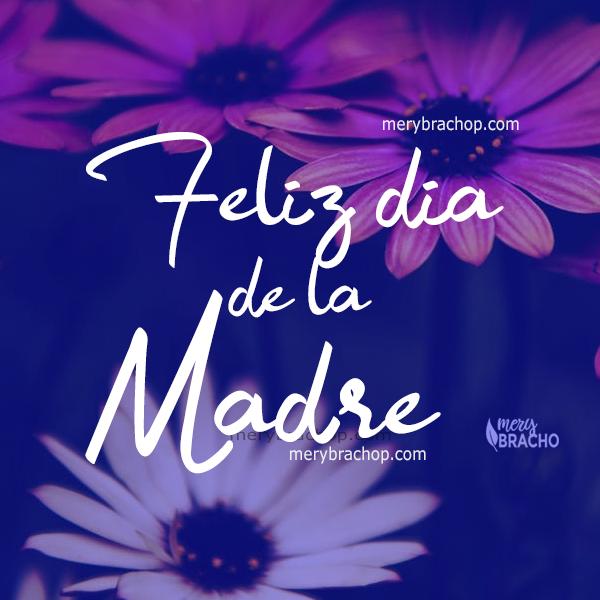 bonita tarjeta imagen para felicitar a una mama, muro de facebook, frases