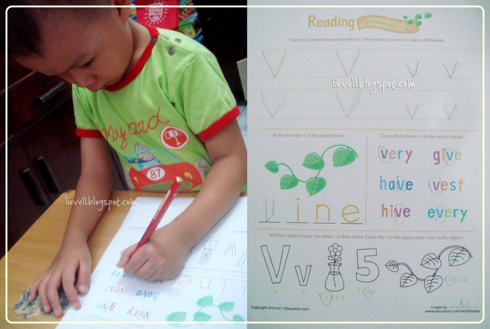 Preschool Letter V And Valentine