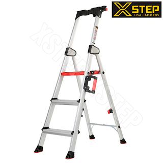 Thang nhôm ghế XSTEP XL 03 bậc rút chính hãng