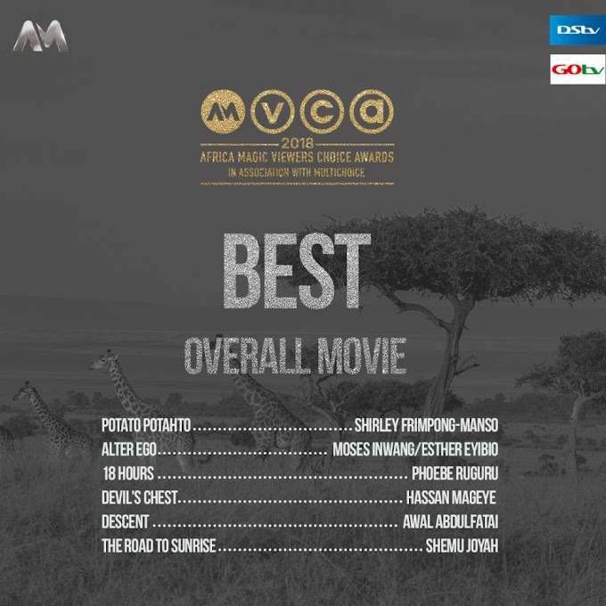 #AMVCA2018: Shirley Frimpong-Manso, Lydia Forson.. Here are the Nominees for 2018 Africa Magic Viewers' Choice Awards