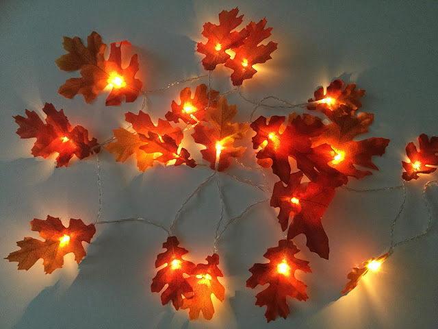 Warm autumn fairy lights