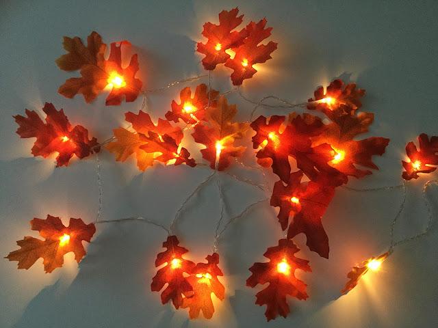 Warm autumn fairy lights