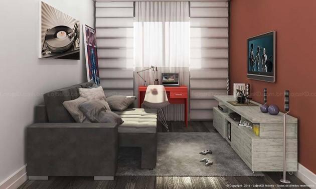 Decoração de sala pequena
