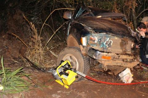 Colisão entre caminhão e camionete faz vitima fatal em Pitanga