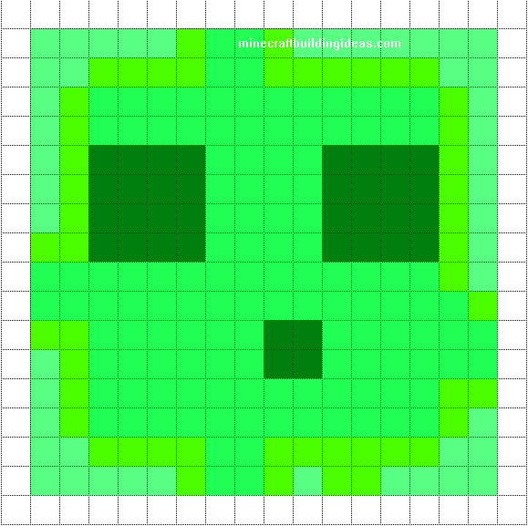 Minecraft Pixel Art Templates Slime