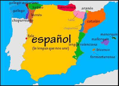 Mapa Lenguas De España.Segundomonsalud El Mapa De Las Lenguas De Espana