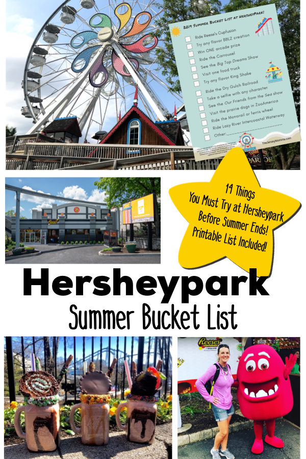 photo regarding Have a Sweet Summer Printable identify HERSHEYPARK Summer time 2019 PRINTABLE BUCKET Checklist: 14 Components On your own