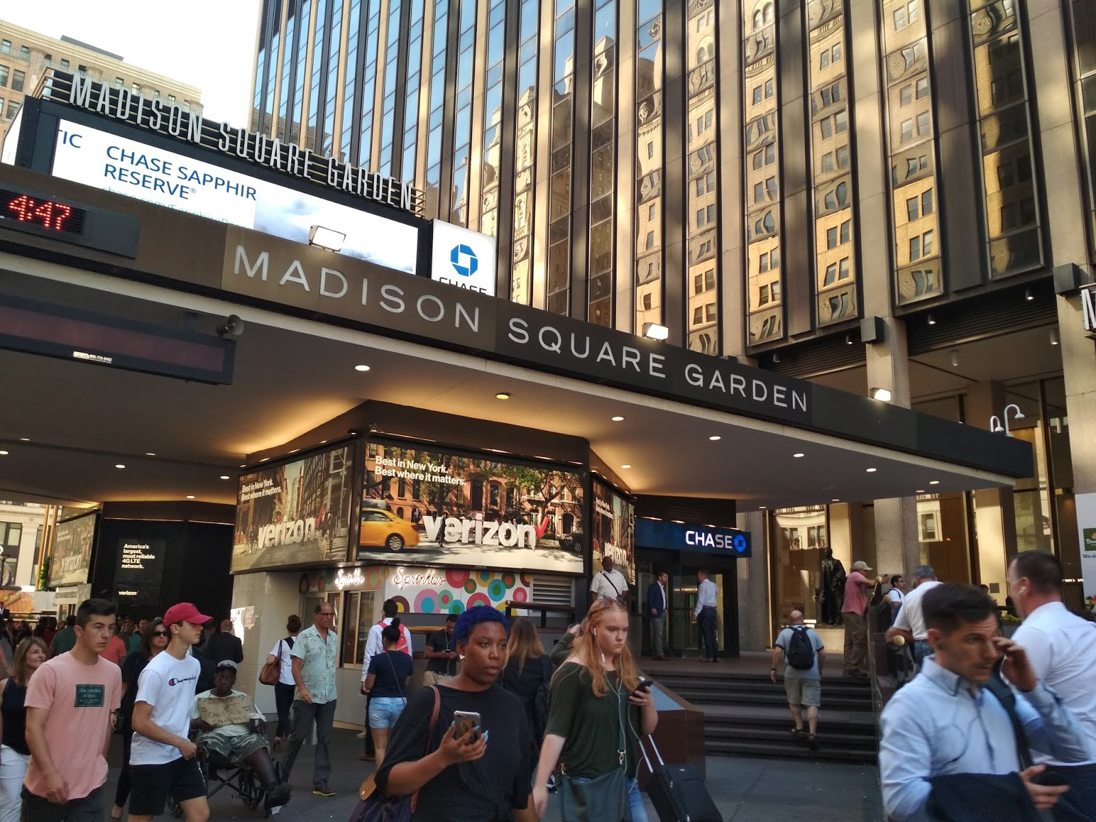 CHINAR SHADE : MADISON SQUARE GARDEN MANHATTAN NEW YORK
