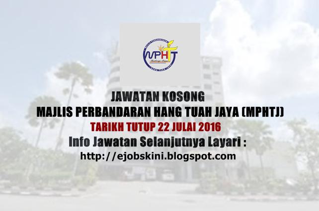 Jawatan Kosong Majlis Perbandaran Hang Tuah Jaya (MPHTJ)