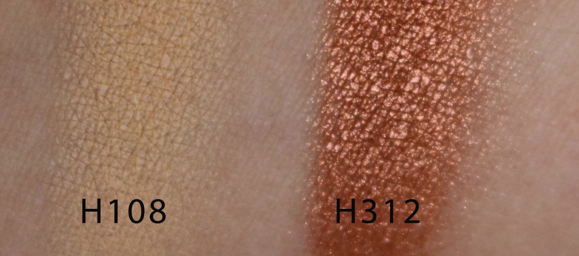 make up for ever artist face color H108 H312 swatches