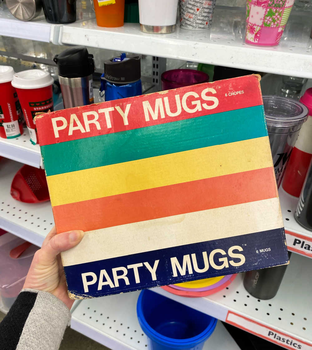 party mugs plastic upcycle