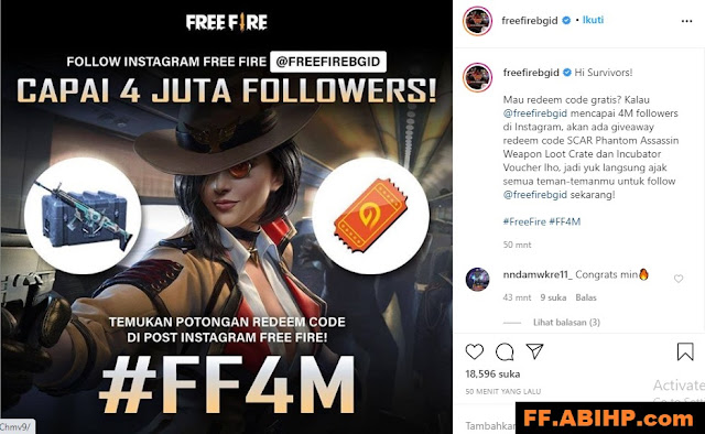 4 Juta Follower FreeFirebgID