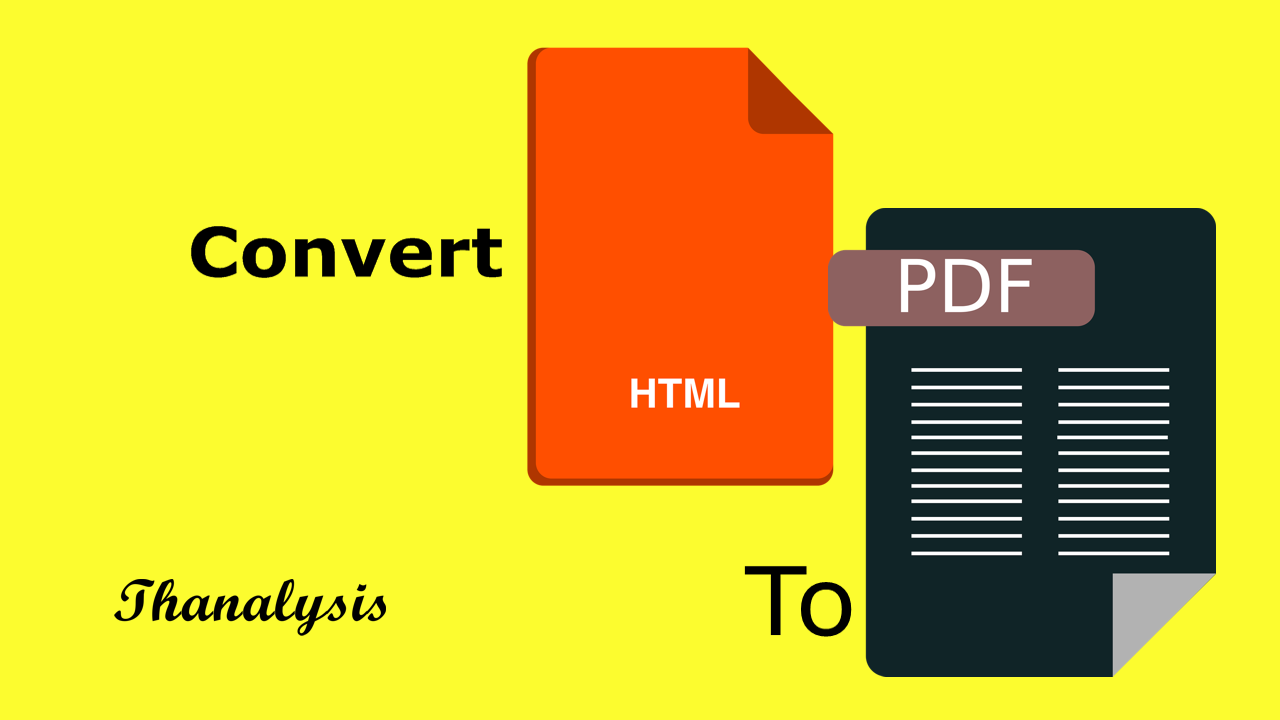 How you can print web pages to PDF directly - Thanalysis