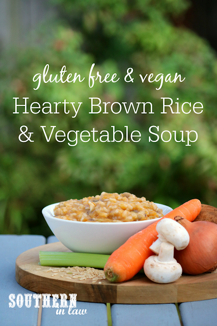 Hearty Brown Rice and Vegetable Soup Recipe - healthy, gluten free, vegan, vegetarian, low fat and clean eating friendly recipe