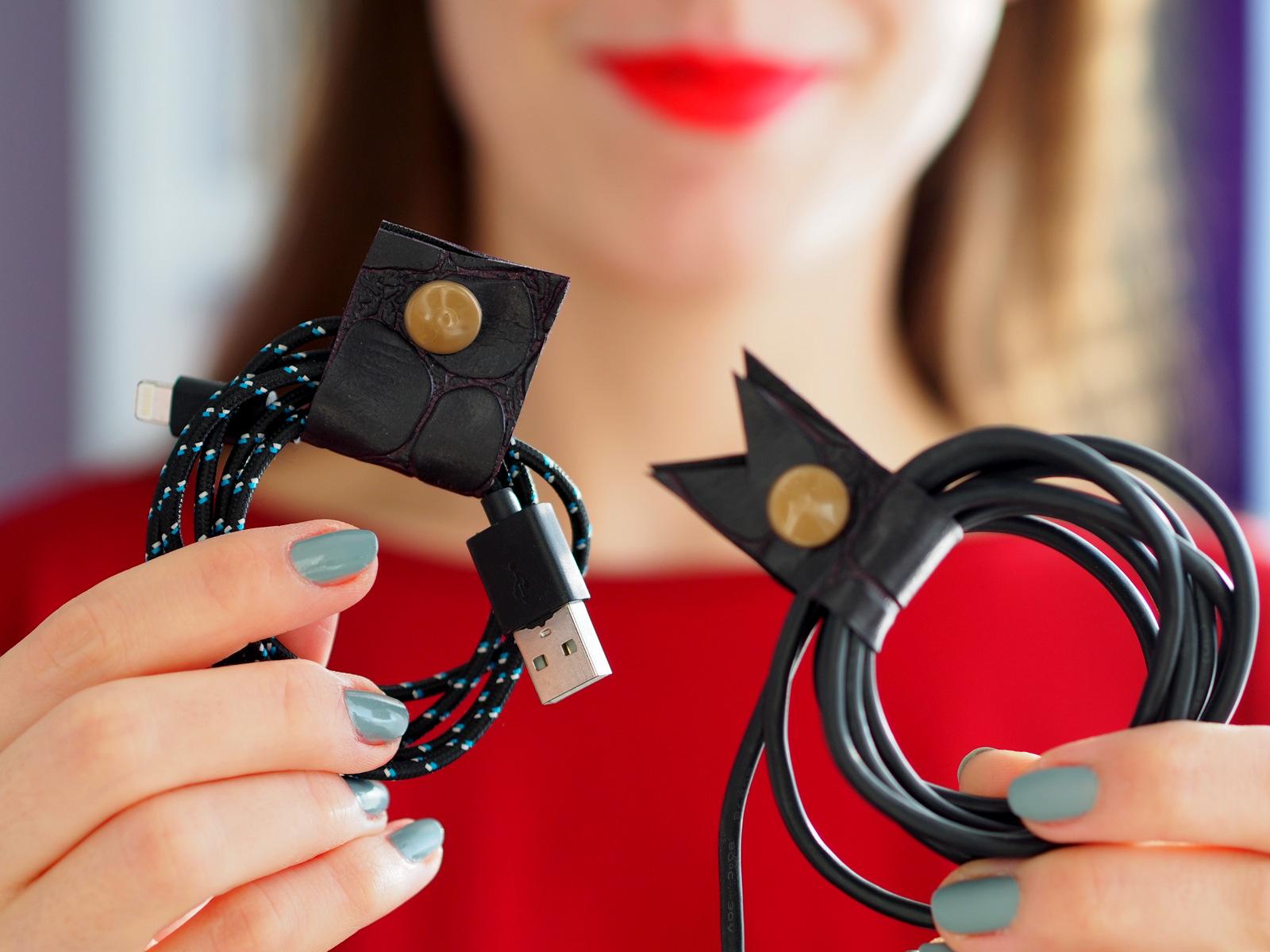 DIY: organizátor na káble a slúchadlá // cable holder, cable organizer, earbud holder