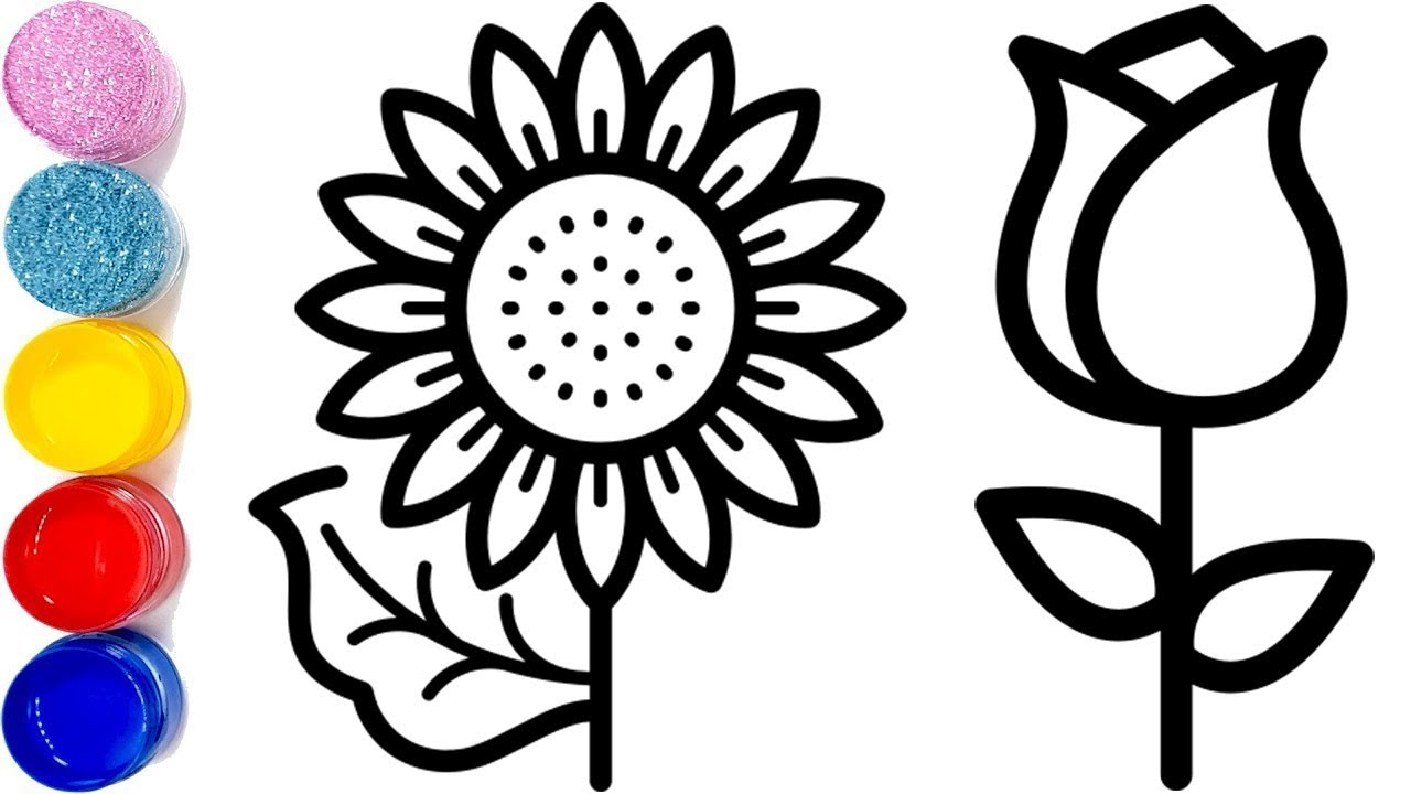 Flowers Drawing Easy For Kids How To Draw A Flower Easy Coloring Pages