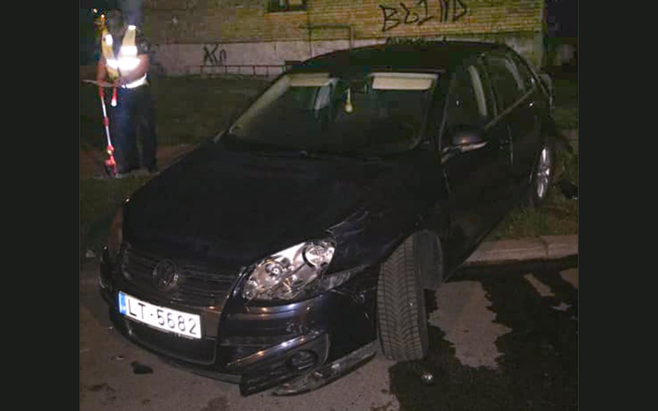 Ķengaragā naktī sadauza automašīnas
