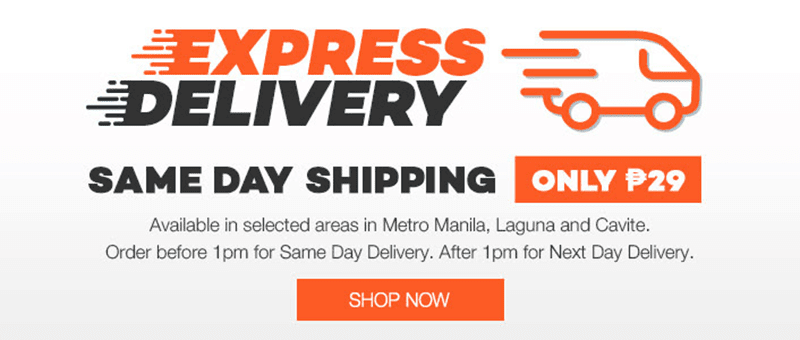 Lazada's Announces Express 1 Day Delivery For PHP 29