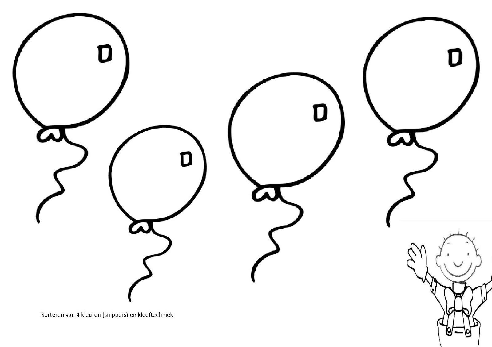 Kleurplaat Hartjes Ballonnen Archidev