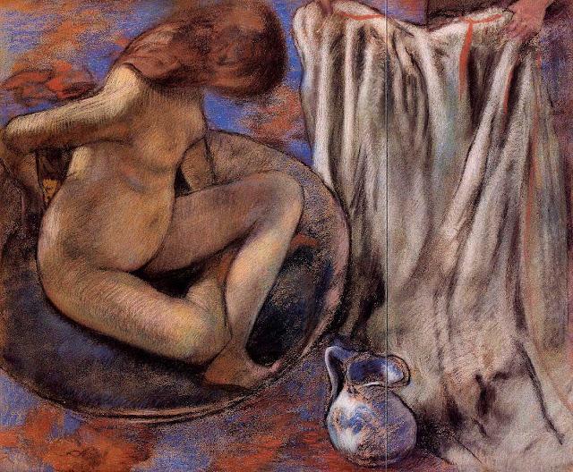 Эдгар Дега - Женщина в тазу (1884)