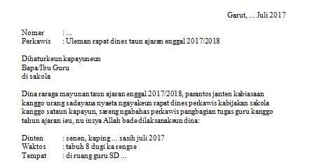 Contoh Surat Izin Sekolah Bahasa Sunda