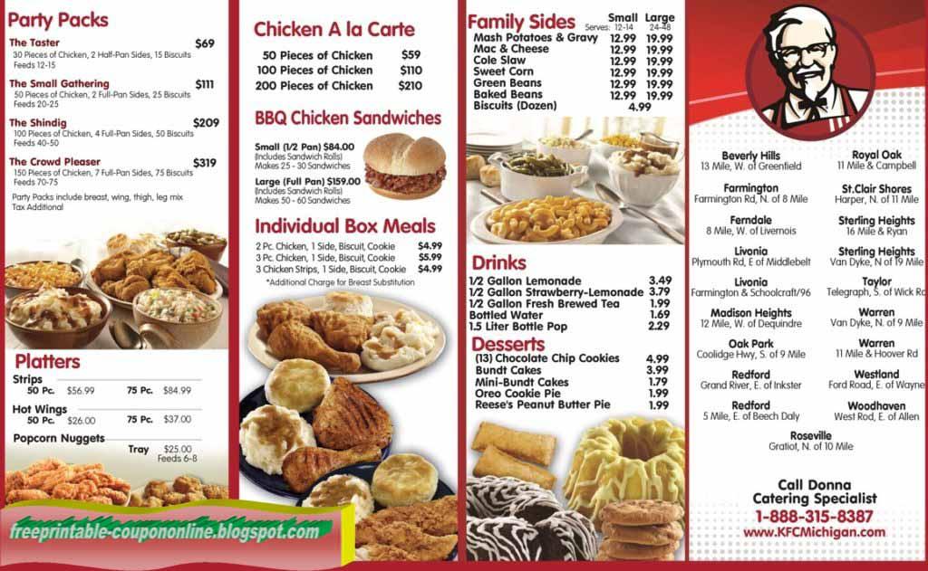 red lobster printable menu pdf