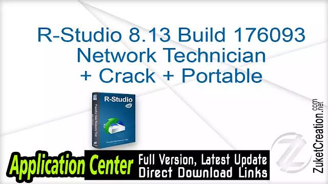 R-Studio 8.13 Build 176093 Network Technician + Crack + Portable
