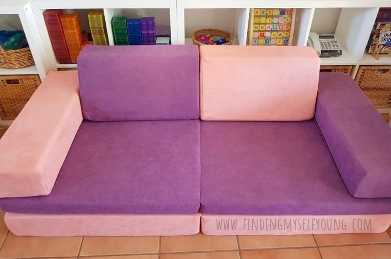 whatsie play couch with different fabric covers