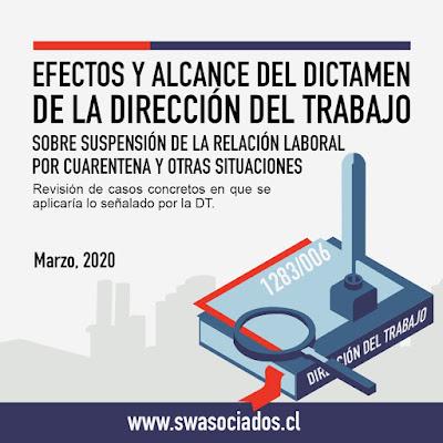 Alcances del dictamen de la DT sobre suspensión de la relación laboral por cuarentena