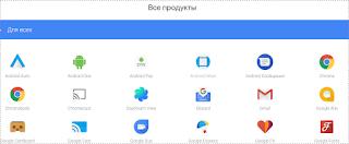 Все продукты Гугла
