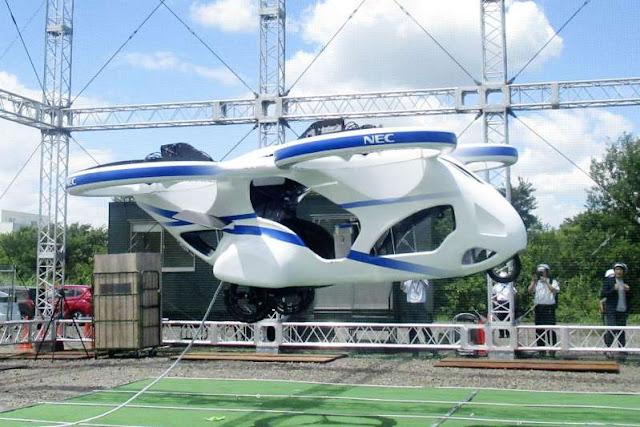 Teste com veículo voador japonês é realizado com sucesso
