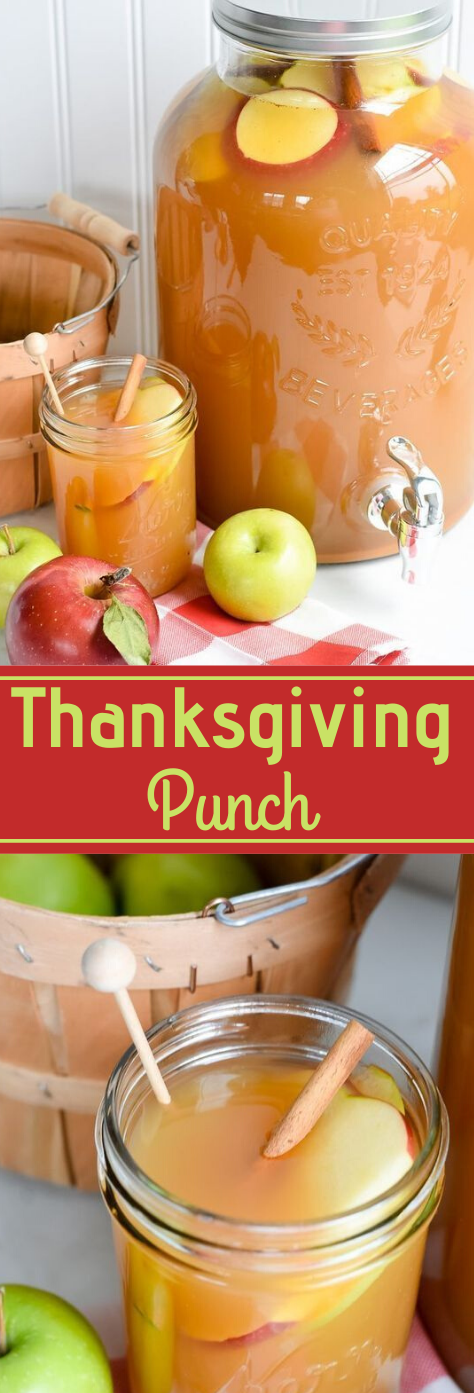 THANKSGIVING PUNCH FOR A CROWD #drink #punch #sangria #easy #cocktail