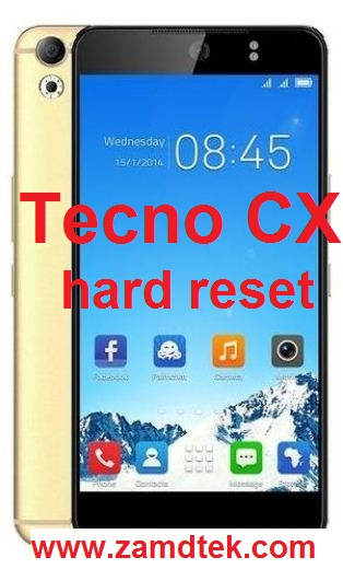Tecno CX Hard reset google reset, and FRP bypass
