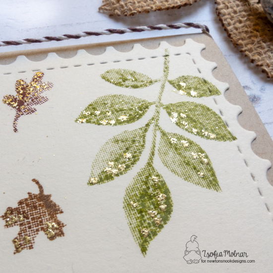 Truly Grateful Card by Zsofia Molnar | Shades of Autumn Stamp Set and Framework Die Set by Newton's Nook Designs #newtonsnook #handmade