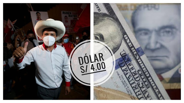Dólar Perú S/ 4.00 soles