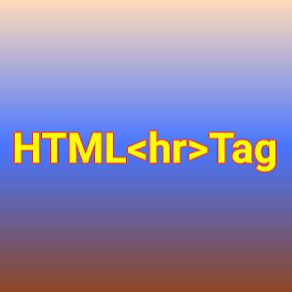 HTML <hr> tag