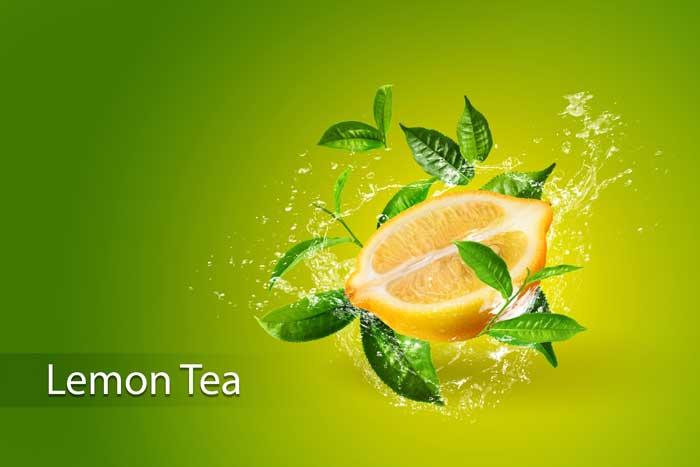 Lemon Green Tea Leaf PSD Template