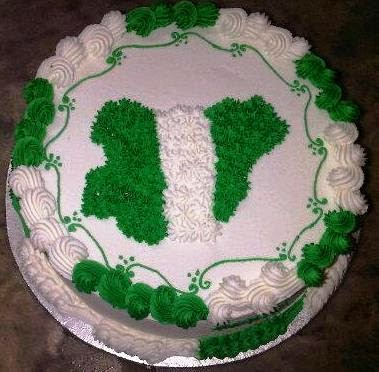 nigerian green white green cake