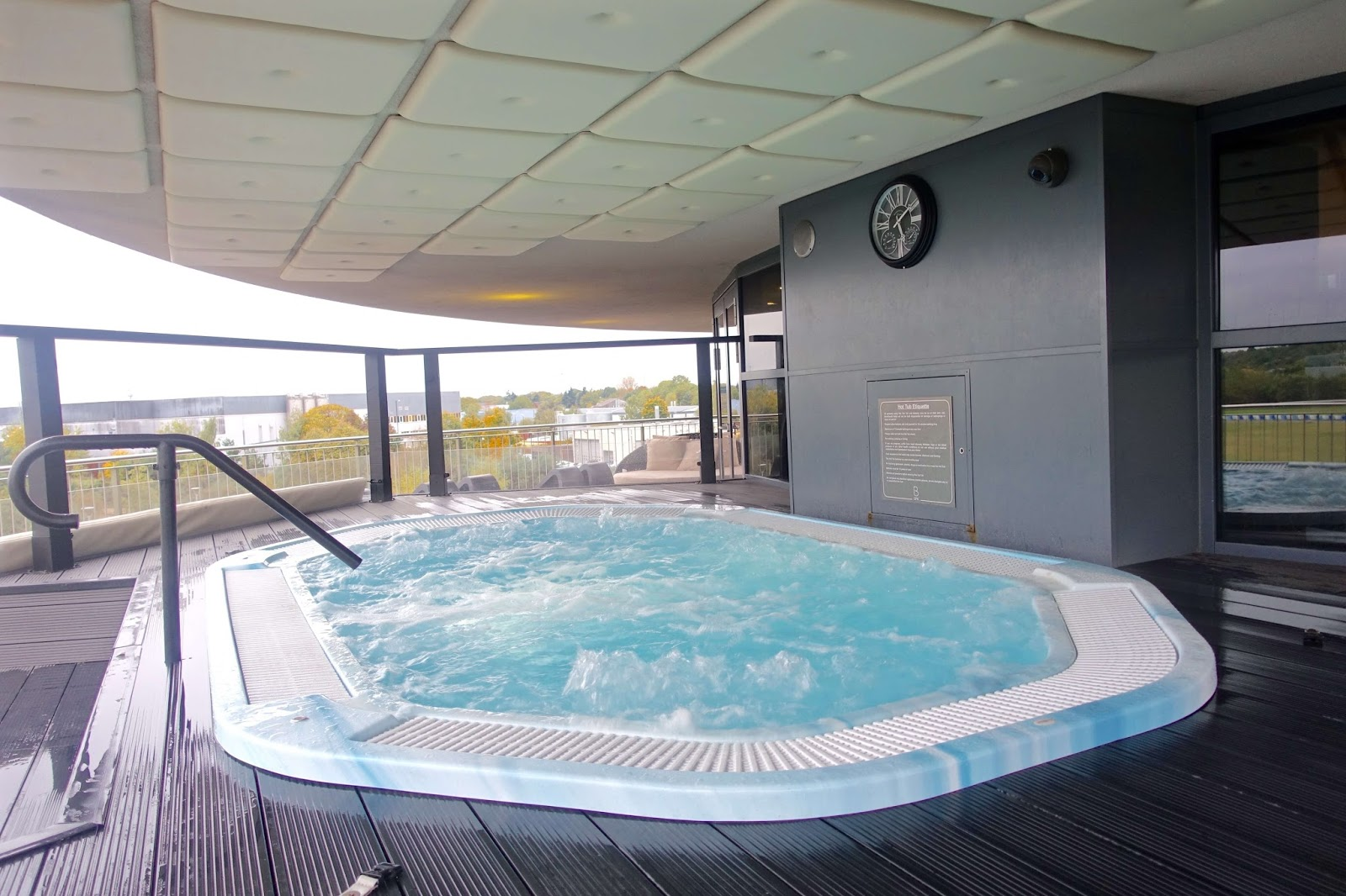 outdoor hot tub seating 12 people brooklands hotel spa