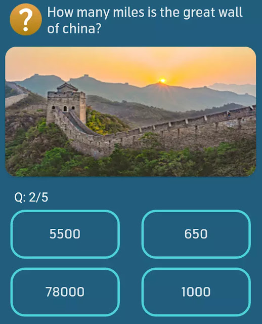How many miles is the great wall of china?