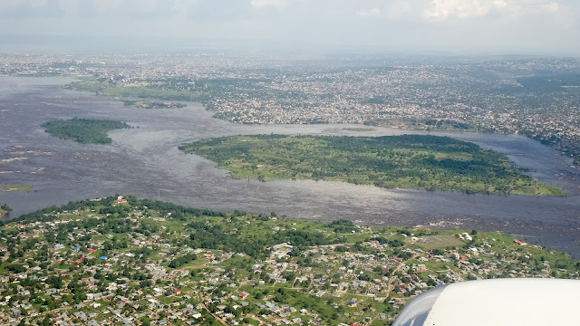 The Congo River between Brazzaville and Kinshasa
