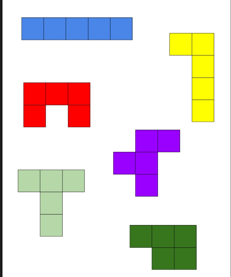 Decisive image within pentominoes printable